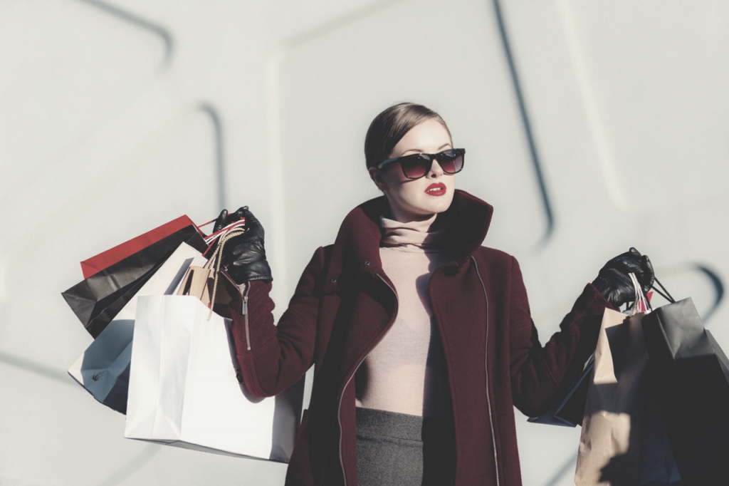 Shopping with an image consultant